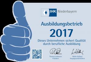 Aufkleber IHK Passau normal 2017 freigestellt