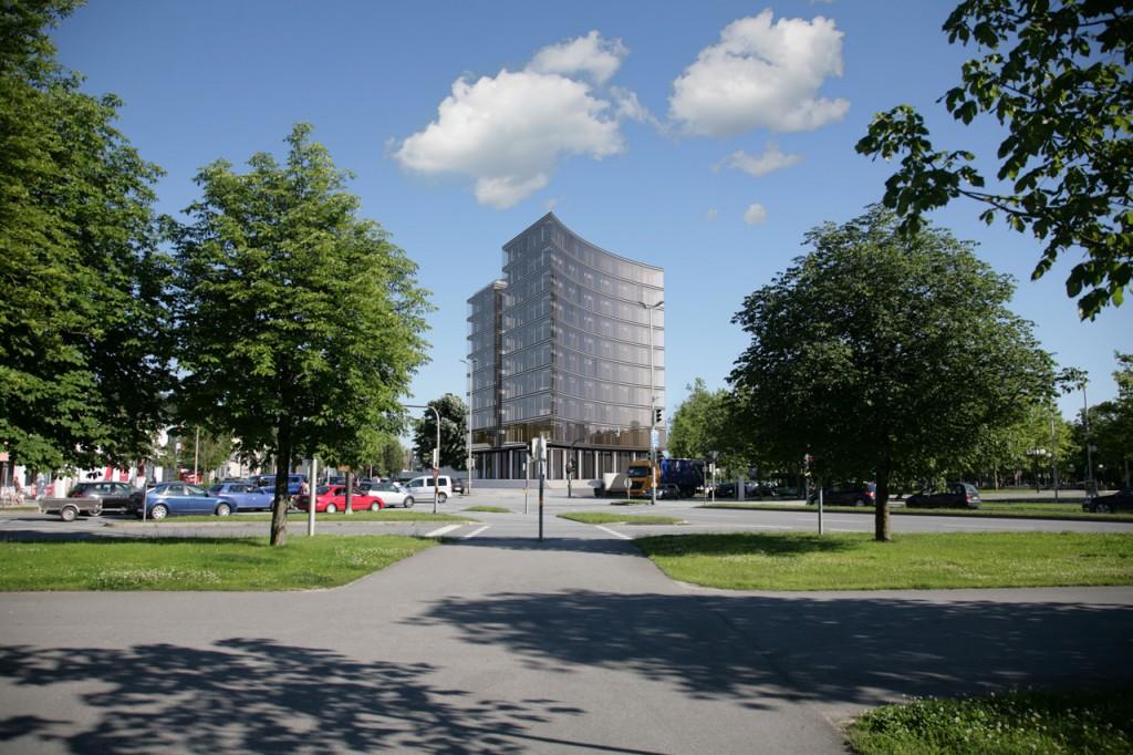 Visualisierung des künftigen KARL-Turms in Deggendorf, Quelle: © 2016 Kress Architekten