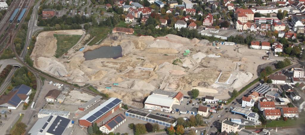 Projektfortschritt Glashütte Achern, Stand Oktober 2017