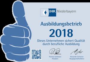 Aufkleber IHK Passau normal 2018 x