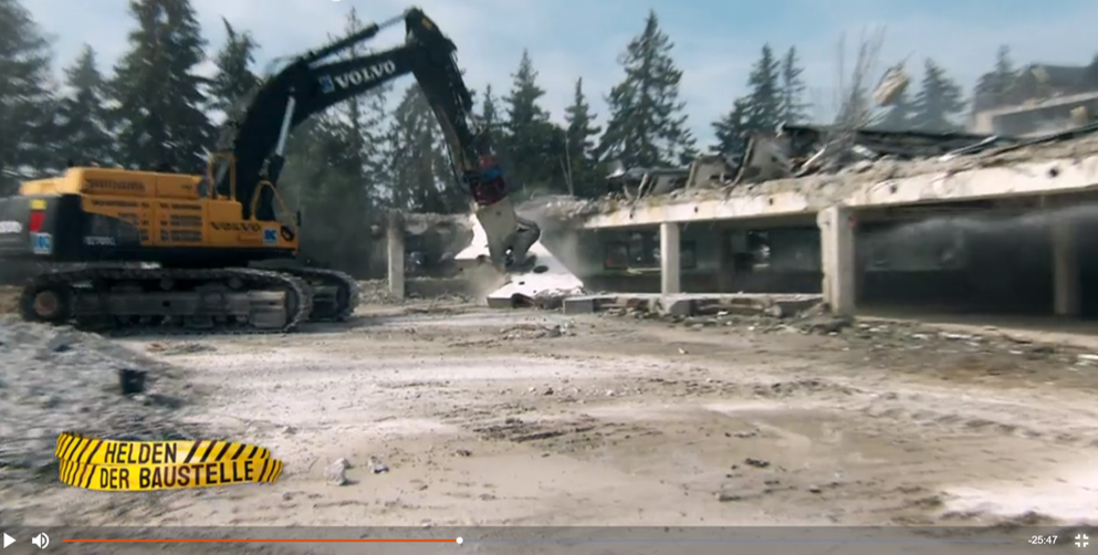 DMAX Serie - Helden der Baustelle, Abbrucharbeiten Karl-Gruppe in Reichertshofen