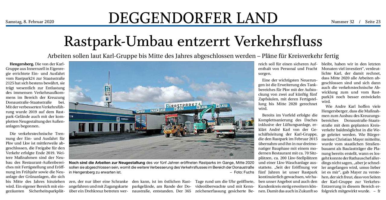 Rastpark24, Authof Hengersberg, Umbauarbeiten bald abgeschlossen